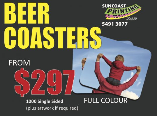 Drink Coasters or Beer Coaster - Sunshine Coast