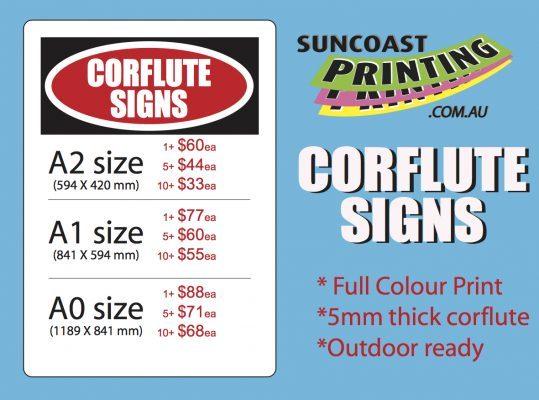 Corflute Signs - Suncoast Printing