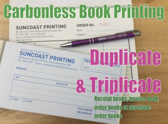 Carbonless Book Printing - Suncoast Printing