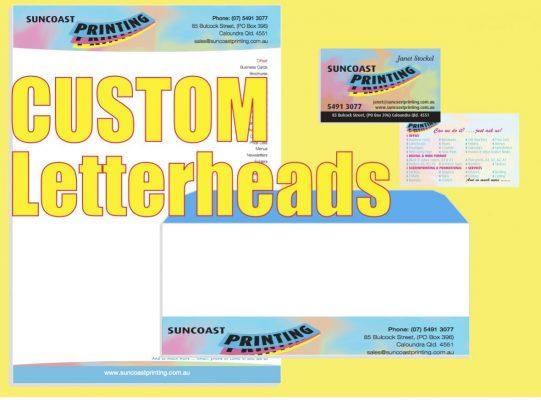 Custom Letterhead - Suncoast Printing