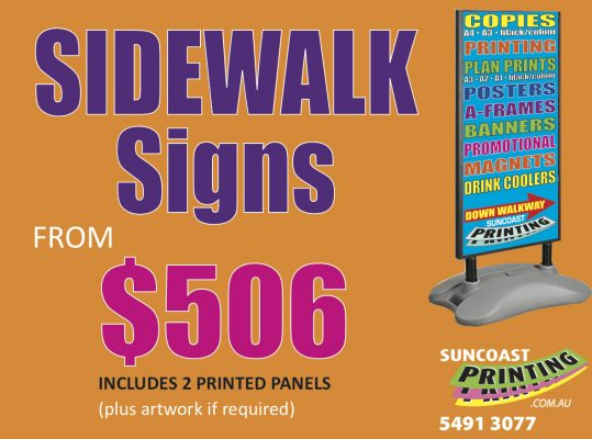 Sidewalk Signs - Suncoast Printing