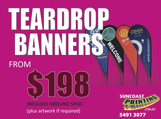 Teardrop Banners - Suncoast Printing