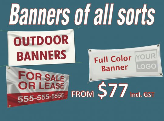 Banners of all sorts - Suncoast Printing