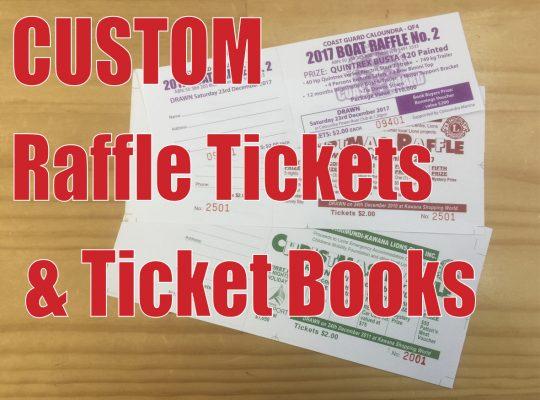 Raffle Ticket Printing - Suncoast Printing