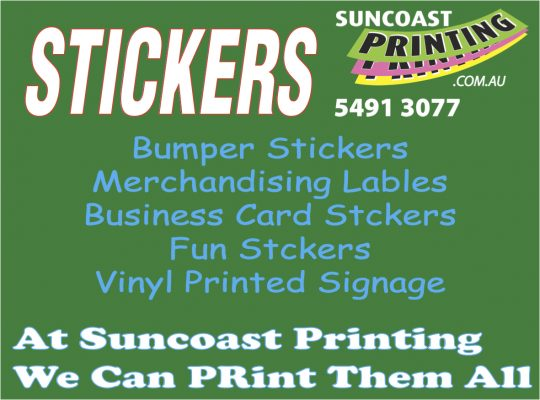 Stickers - Suncoast Printing