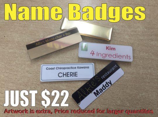 Name Badges - Sunshine Coast, Caloundra